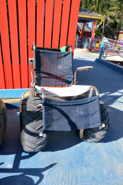 Cadeira de Rodas usada na ilha de CocoCay