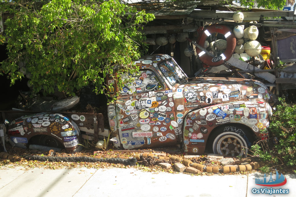 Truck full of stickers-Key West