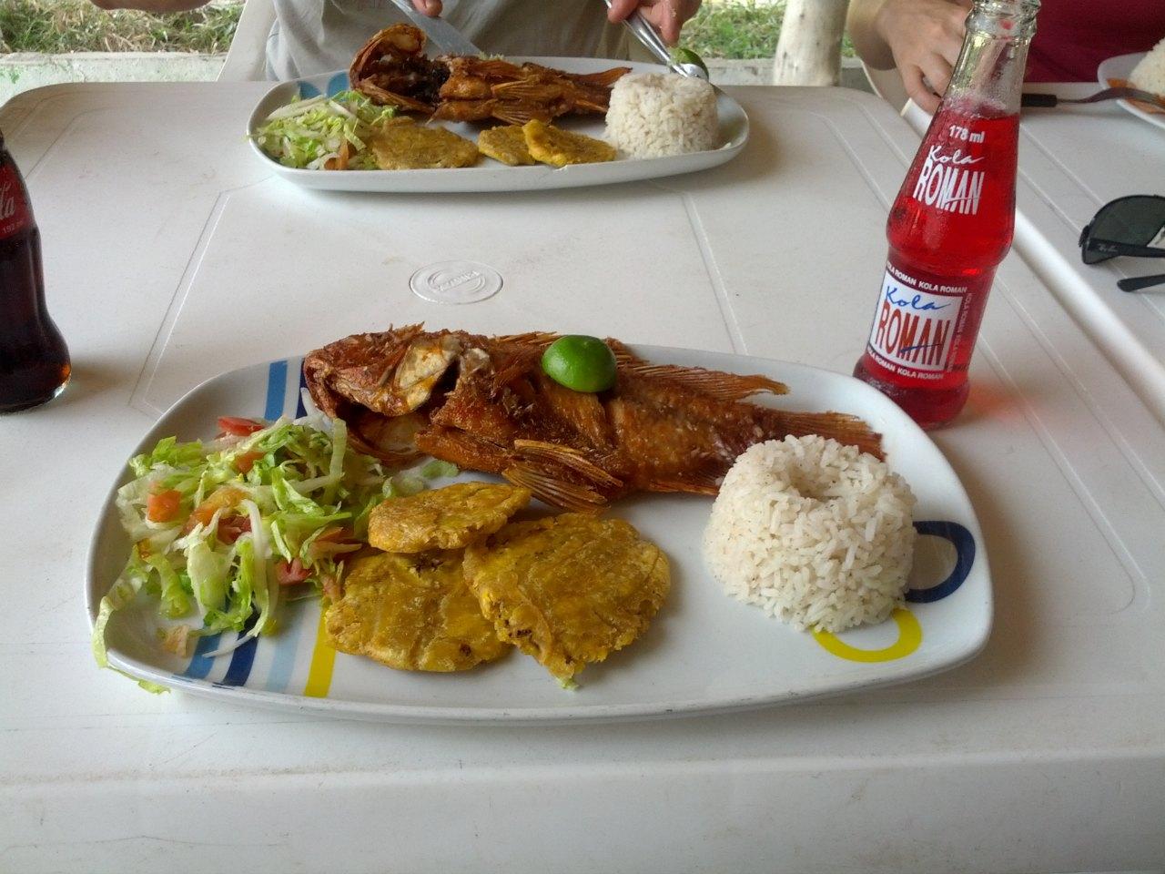 Cartagena-Arroz-Salada-Peixe-Frito-Patacones