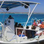 De Palm Island - Chegada a ilha de barco