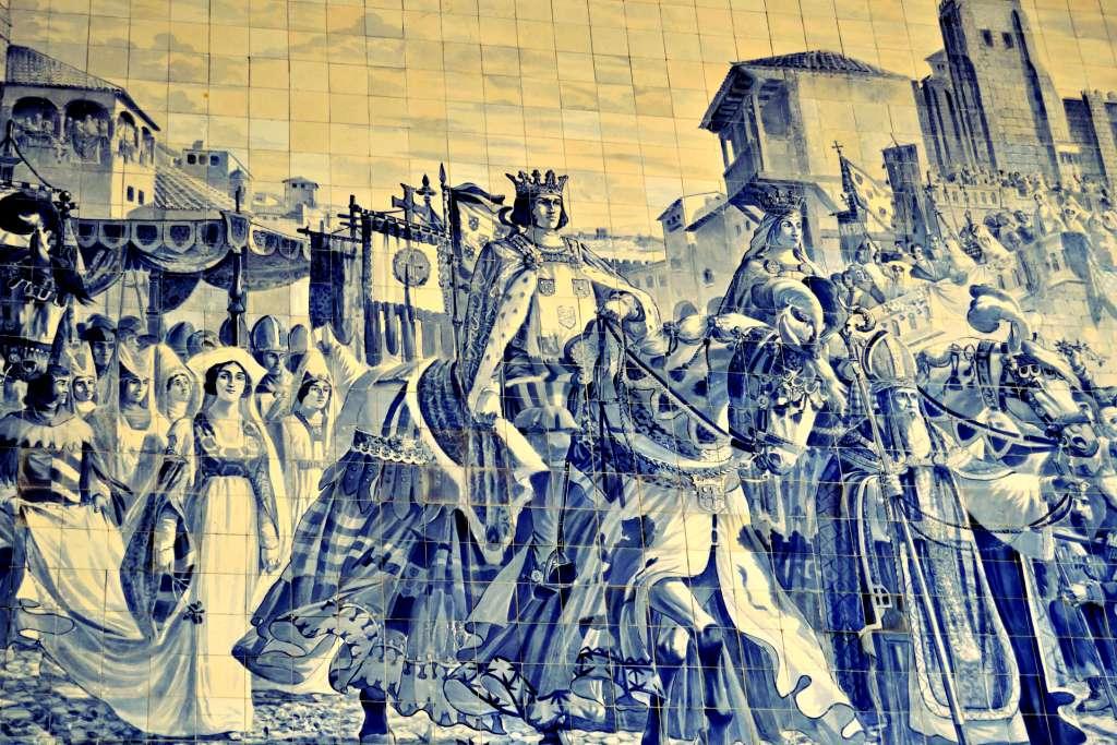 D. João I no Porto, para celebrar o seu casamento com D. Filipa de Lencastre (século XIV)