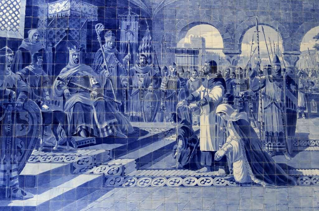 Egas Moniz apresentando-se com a mulher e filhos ao rei de Leão (século XII) - Foto: Carlos Pinto (Flickr)