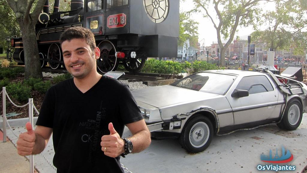 Eu e o DeLorean em Orlando - Universal Studios