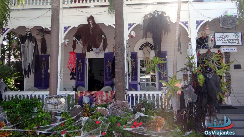 House decorated for Halloween-Nassau