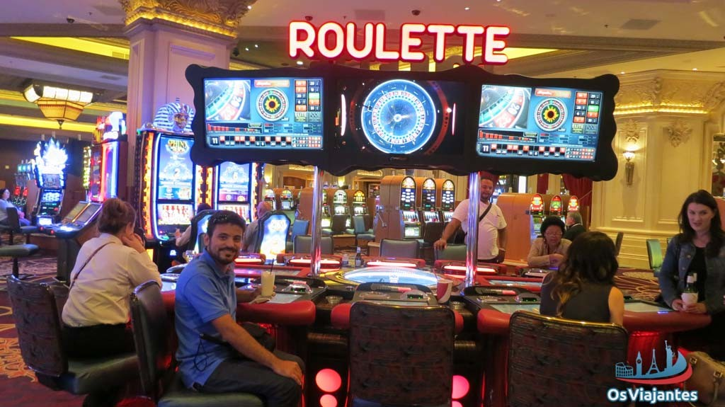 Playing in Las Vegas roulette-Mandalay Bay