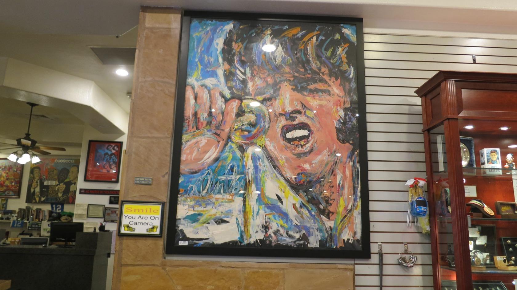 Quadro do Elvis na Loja de Penhores do Trato Feito em Las Vegas