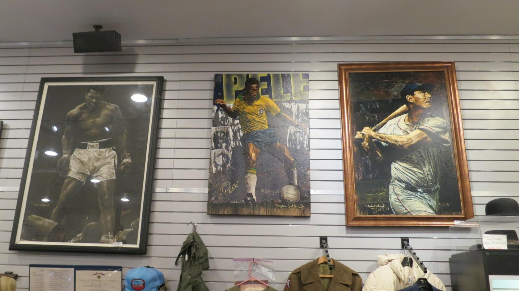Quadro do Pelé na Loja de Penhores do Trato Feito em Las Vegas