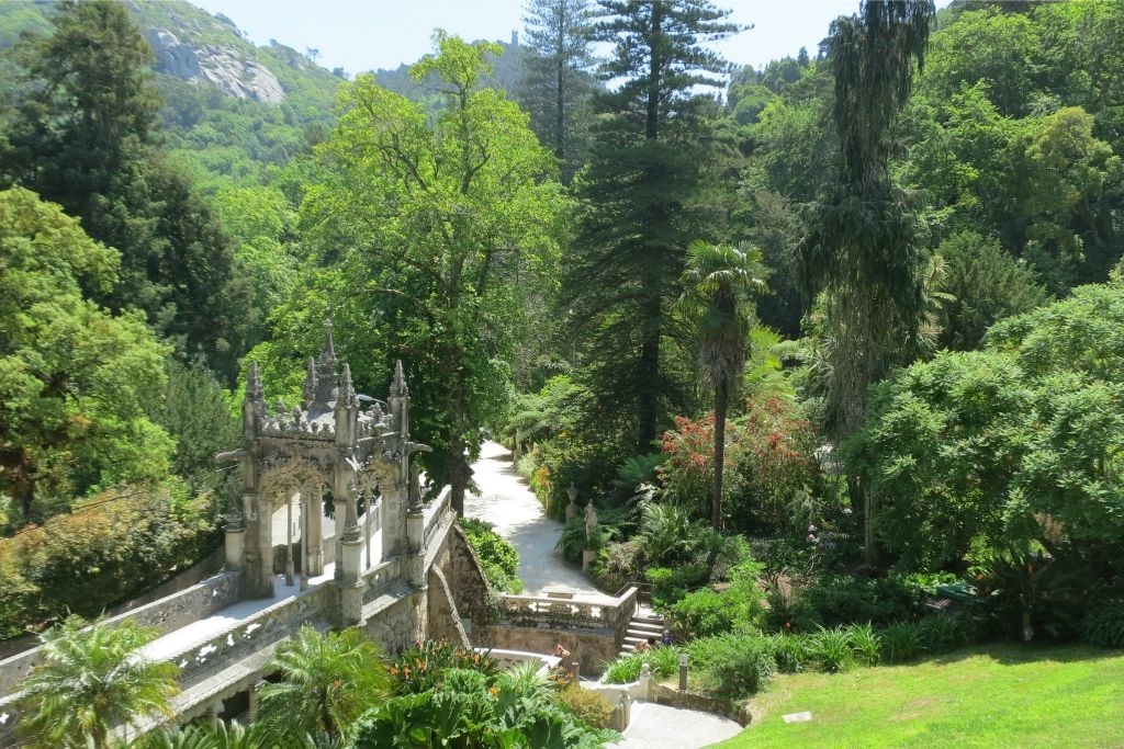 View of the main gate of the entrance of Quinta da Regaleira-Sintra-Portugal
