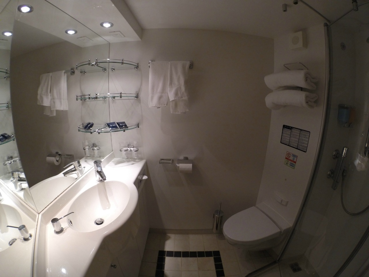 Internal cabin bathroom-MSC Divine