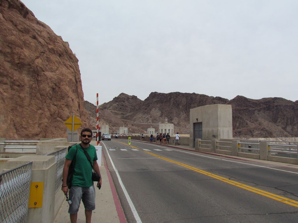 Passing through the dam-Hoover Dam