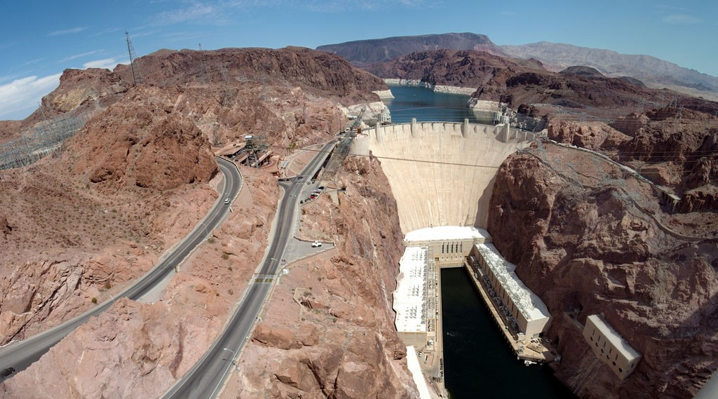 Usa-Arizona-Hoover-Dam-View-Of-Bridge