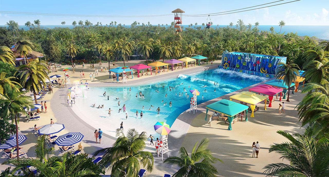 A maior piscina de água doce do Caribe - Foto: Divulgação Royal Caribbean